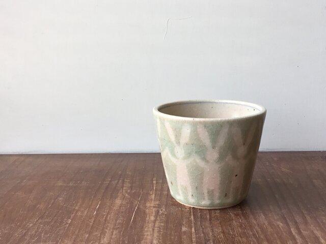フリーカップ 並びうさぎ 緑の画像1枚目