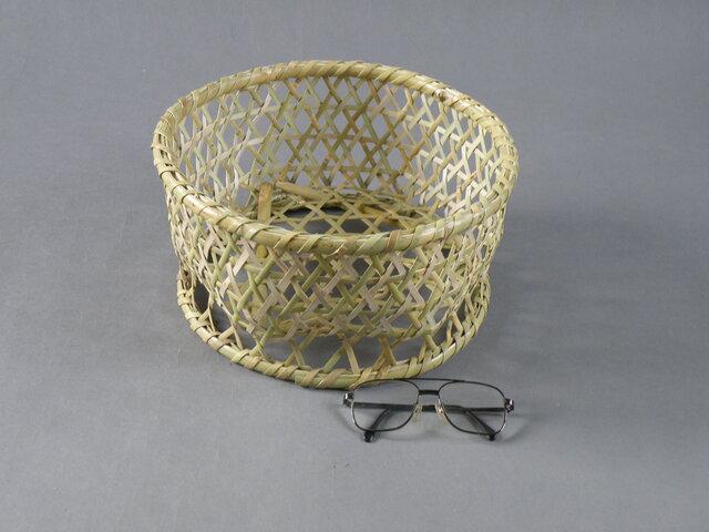 椀籠 円形(小) 根曲がり竹 生活の道具の画像1枚目