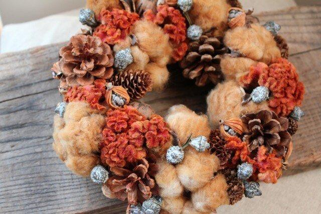 orange×brown wreathの画像1枚目