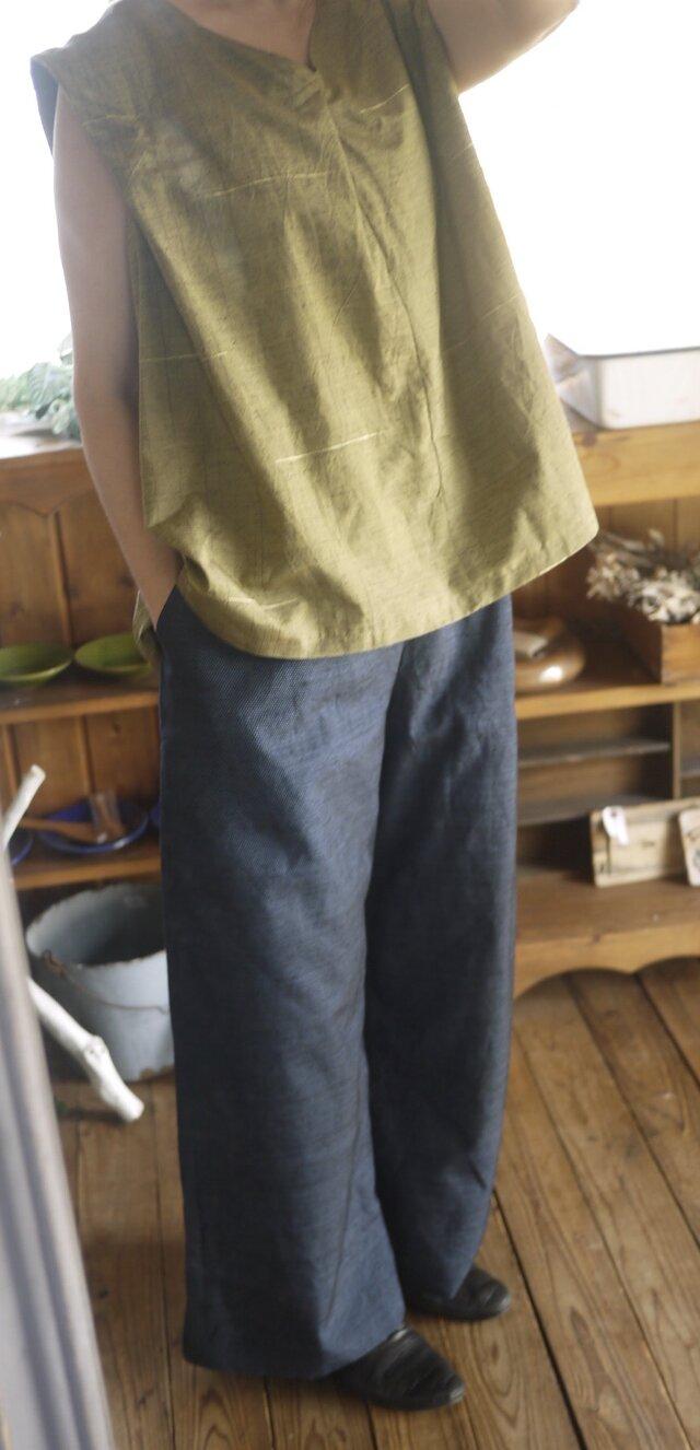 正絹紬反物からトップスの画像1枚目