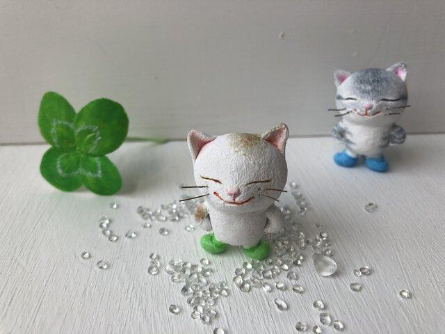長靴をはいた猫さん 白茶トラの画像1枚目