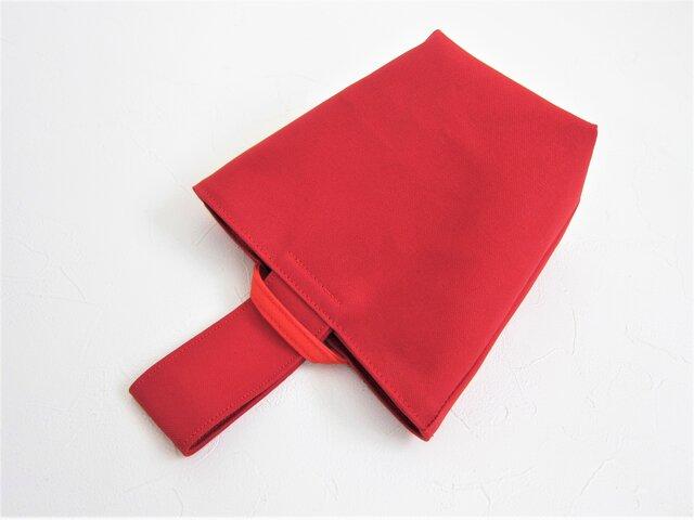 onigiri bag [red×red]の画像1枚目