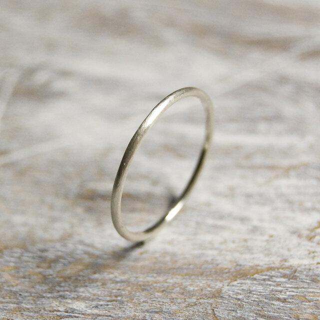 つや消し シルバープレーンリング 1.2mm幅 マット シルバー950|SILVER RING 指輪 シンプル|198の画像1枚目