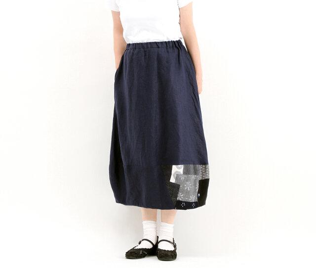 バルーンスカート(久留米絣)#324の画像1枚目