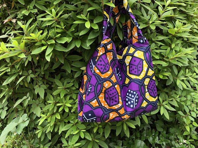 b382-アフリカ布ecoバッグの画像1枚目
