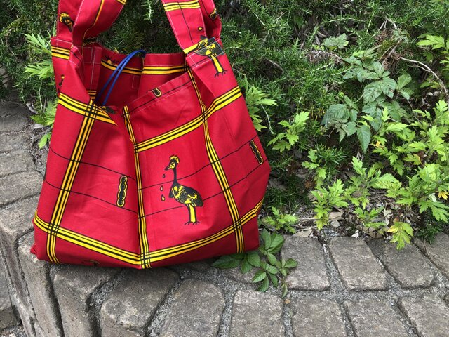 b383-アフリカ布ecoバッグの画像1枚目