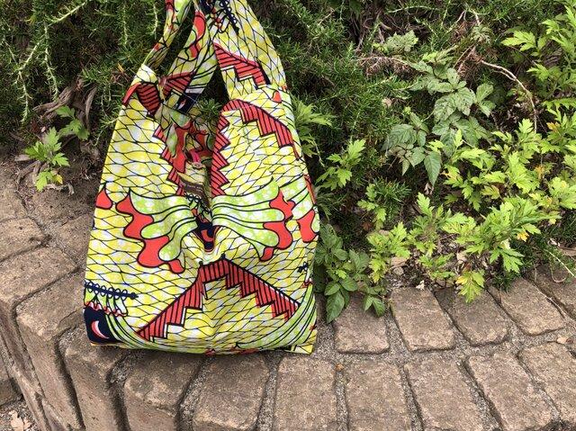 b388-アフリカ布ecoバッグの画像1枚目