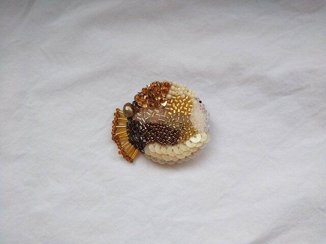 刺繍ブローチ Caramelの画像1枚目