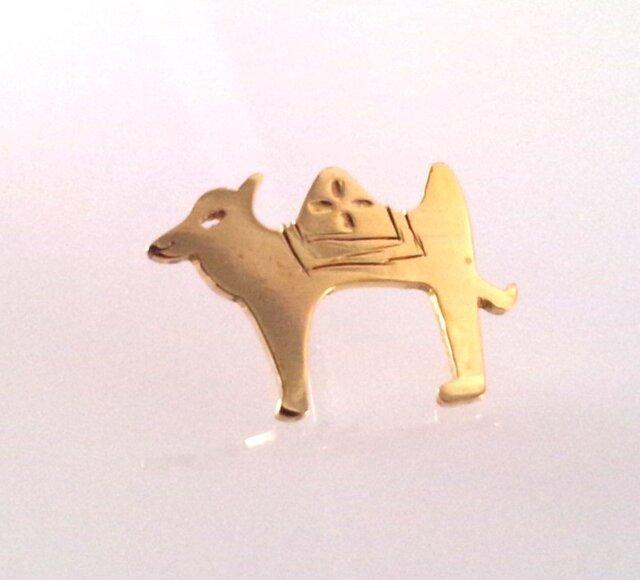シルクロード 真鍮CAMEL ラクダのピンブローチの画像1枚目
