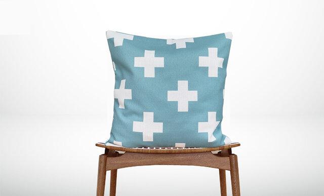 森のクッション +Design back light blue  -ヒノキの香り-の画像1枚目