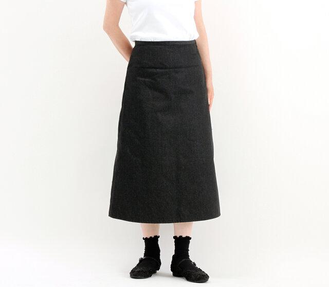 デニムシンプルスカート(ブラック)#326の画像1枚目
