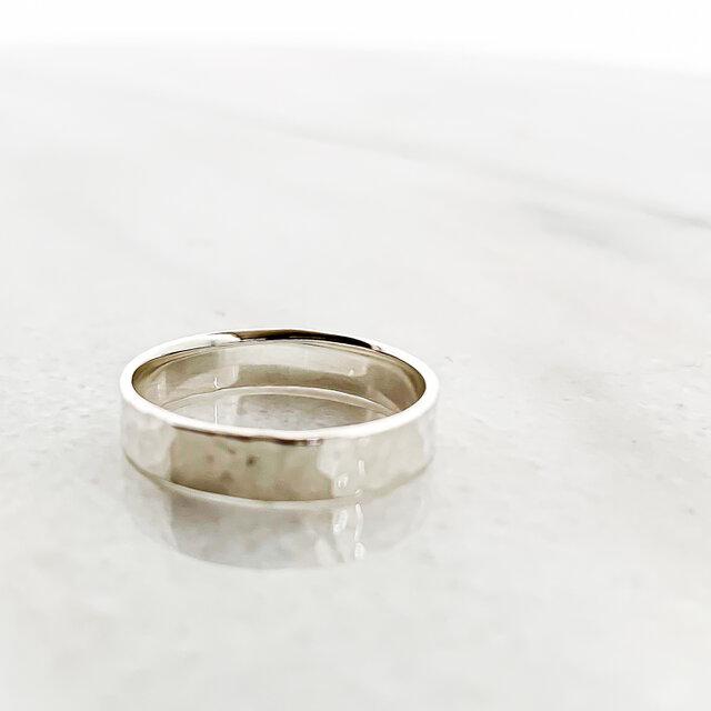 Silver925 Tsuchime wide ringの画像1枚目