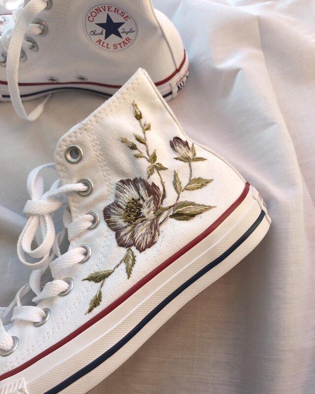 converse 手刺繍のカスタマイズの画像1枚目