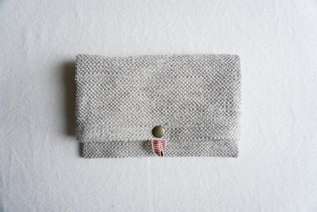 裂き織りのフリーポーチ A5  サンドベージュの画像1枚目
