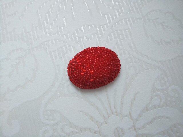 高津様専用 刺繍ブローチ オーバル ベリーの画像1枚目
