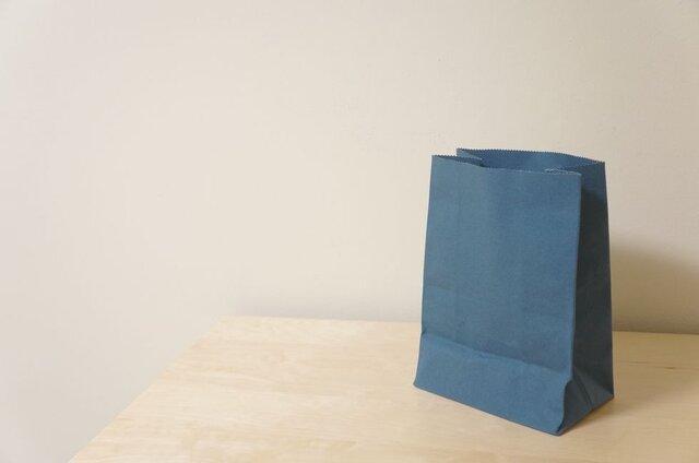 紙袋風布袋:青緑の画像1枚目