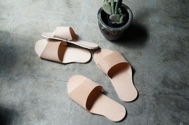 room shoes 姫路タンニンレザー使用《Lサイズ》の画像1枚目