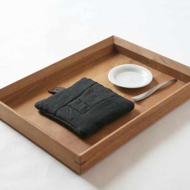 Pot Mat [ビターチョコレート]リネンの画像1枚目