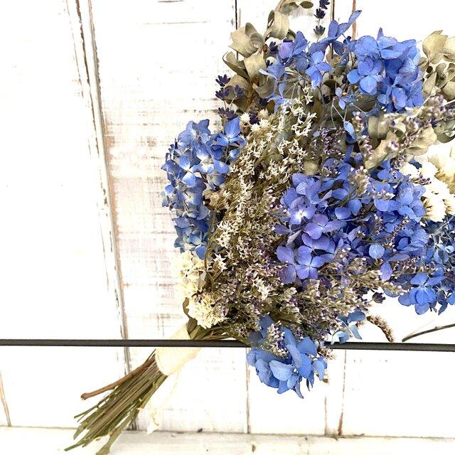Blue Ajisai 夏のスワッグの画像1枚目