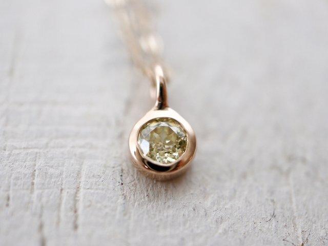 K10 0.2ctダイヤモンド ネックレスの画像1枚目