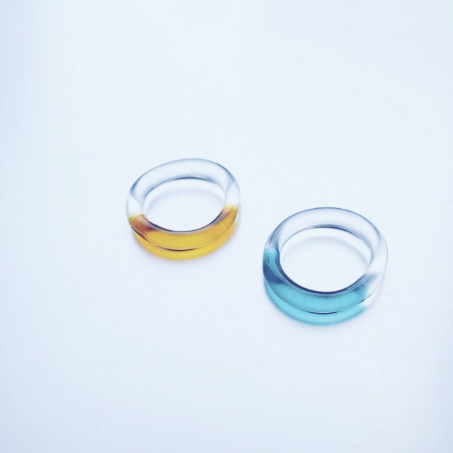 Colored simple Ring / AM / GR / BKの画像1枚目
