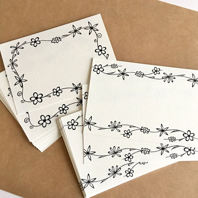 花メッセージカード  2種類セットの画像1枚目