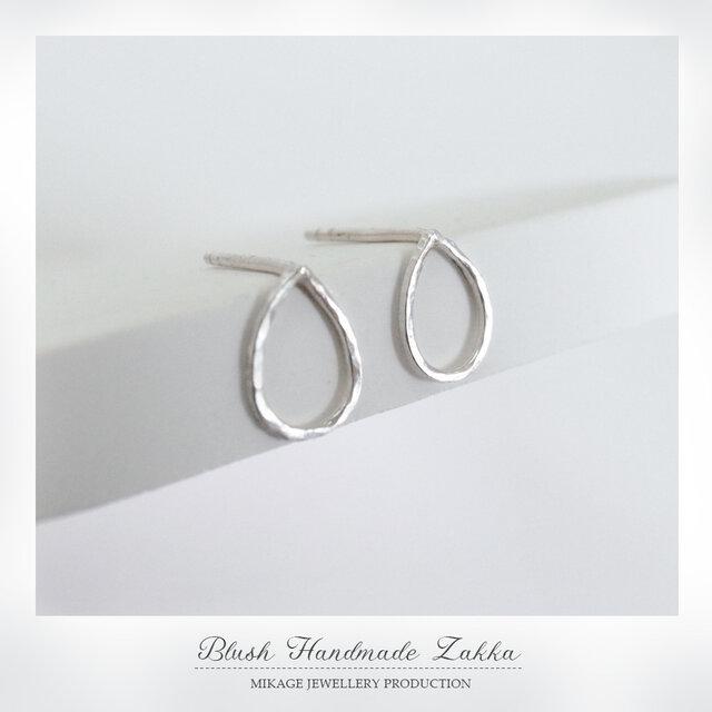 〚 minimalist 〛sv925 minimalist raindrop pierceの画像1枚目