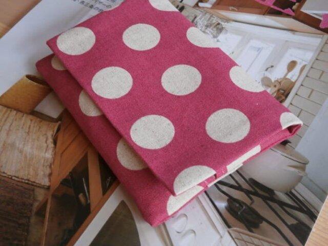 ピンクドットのポケットティシュカバーケースの画像1枚目