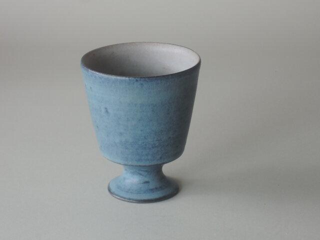 青彩ゴブレット(陶)の画像1枚目