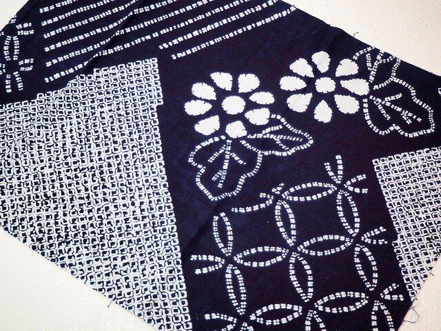 0036 セミオーダー用 浴衣布 木綿 古布古裂 着物リメイク kimono     *ご希望の型をお選びくださいの画像1枚目