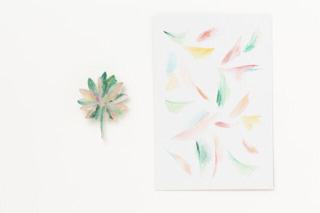 ブローチ【drawing card付き】の画像1枚目