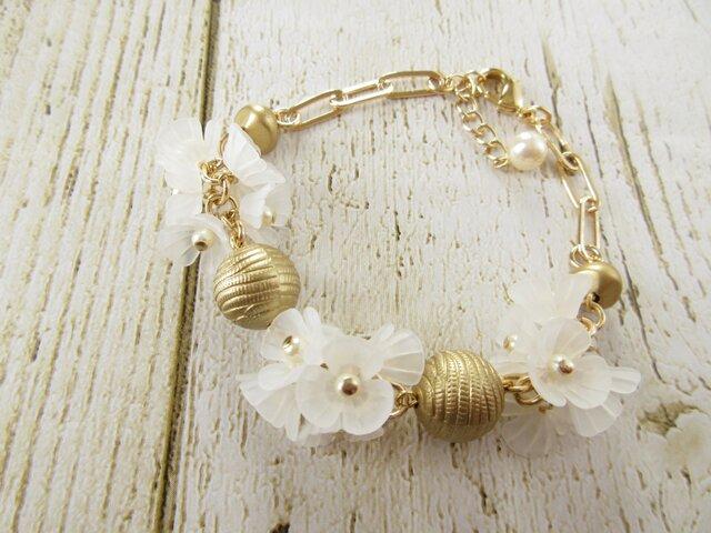 Bracelet お花 (B0355)の画像1枚目