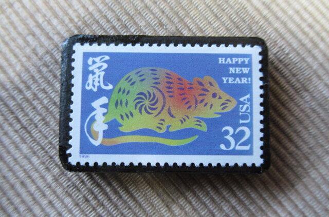 アメリカ 切手ブローチ6310の画像1枚目