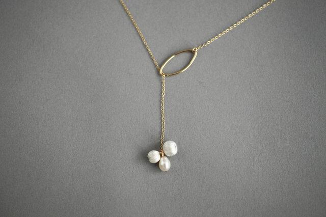 CN-008 lariat necklace mitsubuの画像1枚目