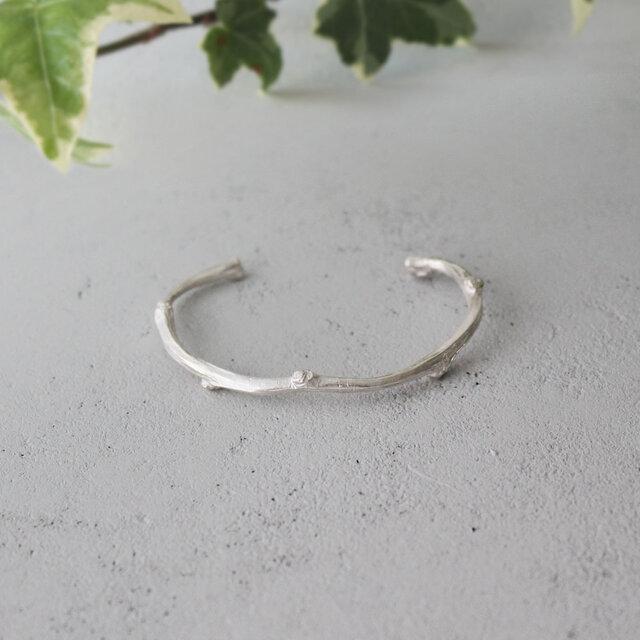 枝のバングル【 silver 】の画像1枚目