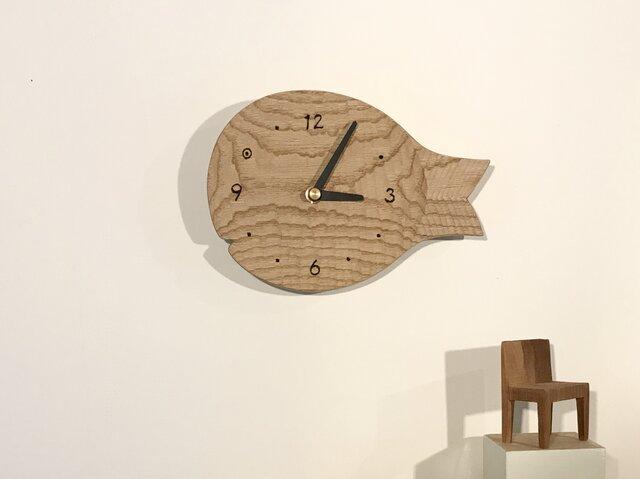 魚の壁掛け時計 S クリ 栗の画像1枚目