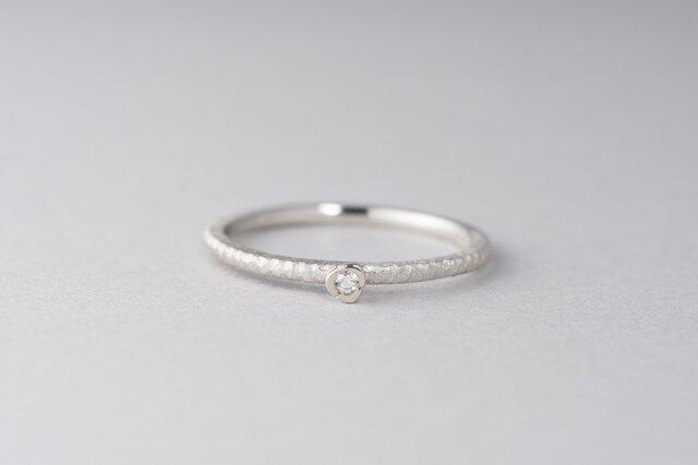 【ストック】お花と枝のダイヤモンドリング / Pt950の画像1枚目