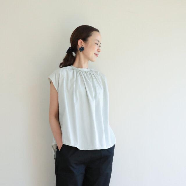 Madeleine blouse / mintの画像1枚目