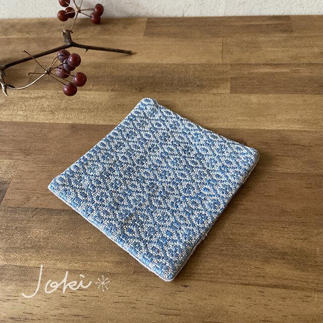 Coaster[リネン手織りコースター] 空色の画像1枚目