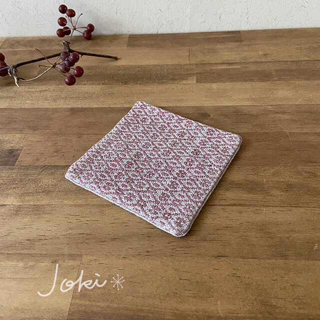 Coaster[リネン手織りコースター] 桜色の画像1枚目
