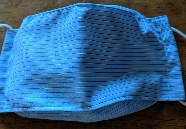 綿生地で舟形マスク 男女兼用 小さ目の画像1枚目