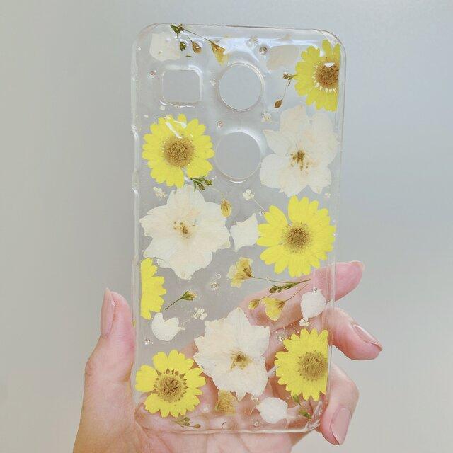 【全機種対応】夏の訪れ。押し花スマホカバー♡全ての機種対応できます。iPhoneらくらくフォンXperiaなど全ての画像1枚目
