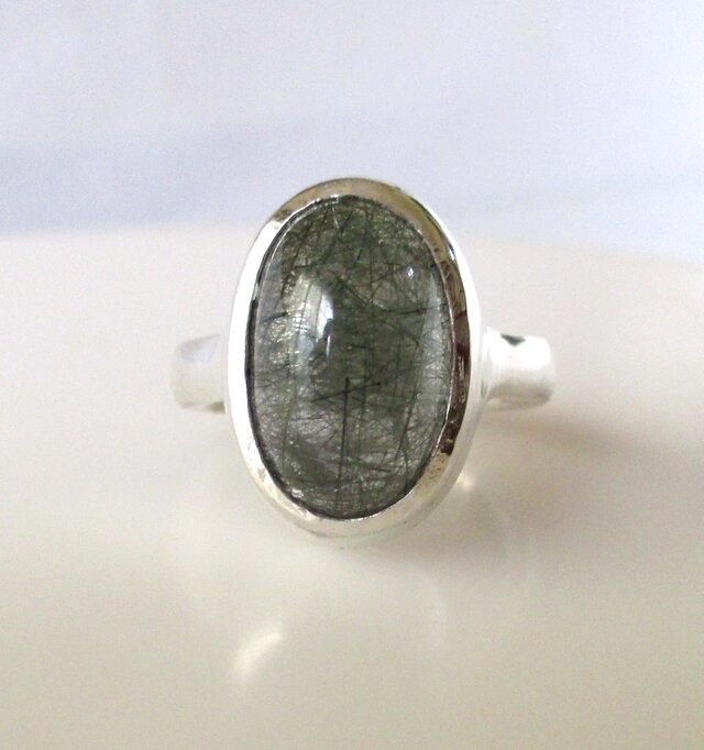 クロムアクチノライトクォーツの指輪の画像1枚目
