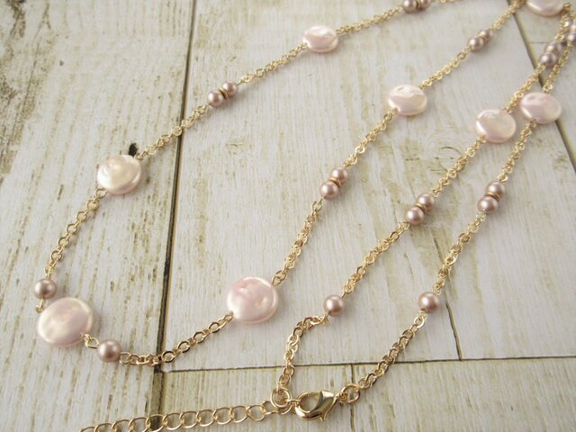 Necklace スワロフスキーパール(N1221)の画像1枚目