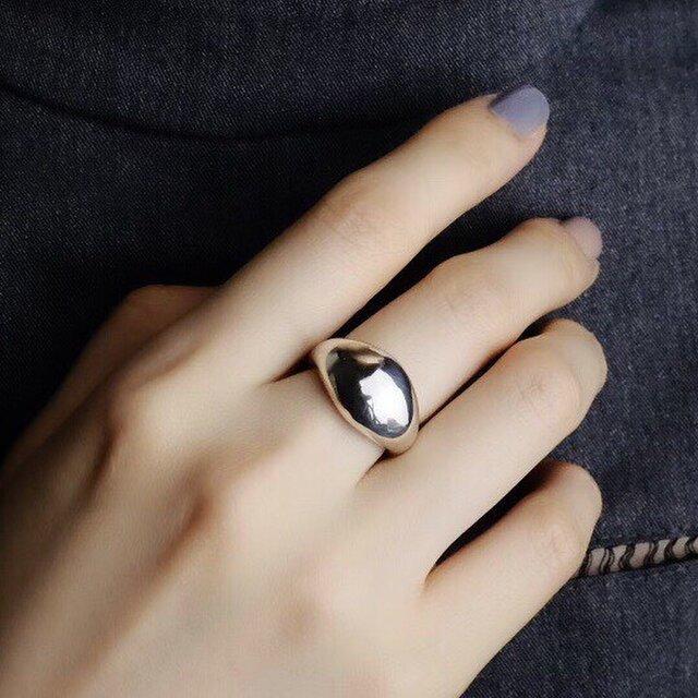 〈silver925〉Plump ring 20〜25号[wide]ぽってりシルバーリング<r_15>の画像1枚目