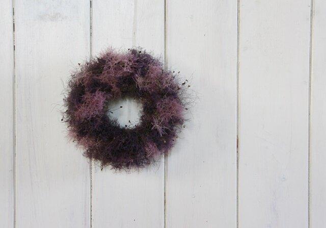 スモークツリーのシンプルミニリース パープルピンクの画像1枚目