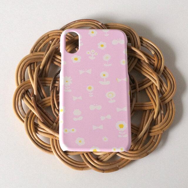 【iPhone / Android】側表面印刷*ハード型*スマホケース「 flower garden ( pink ) 」の画像1枚目