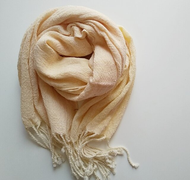 大人の手織り手染め大判コットンガーゼストール 288の画像1枚目