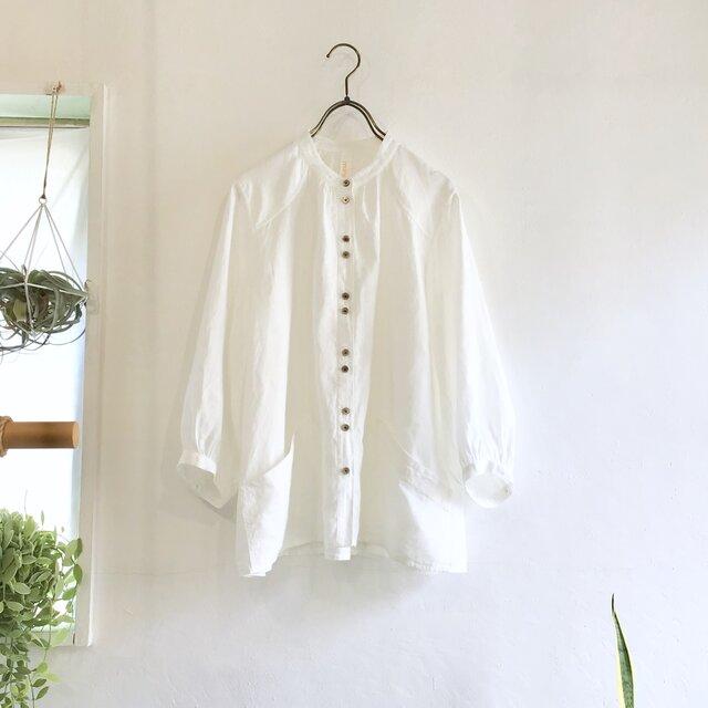 flopsy P blouse (white x cb)の画像1枚目