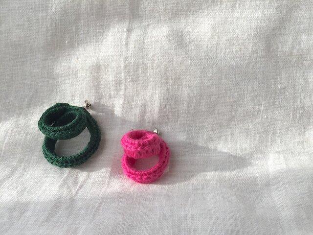 ◎・ブローチ ピンクの画像1枚目